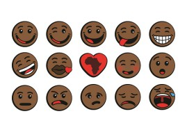 The world has been introduced to the first Afro Emoticons courtesy of Oju Africa (image: Oju Africa)