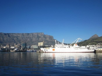 The vessel Léon Thévenin, currently docked in Cape Town, South Africa (image: supplied)
