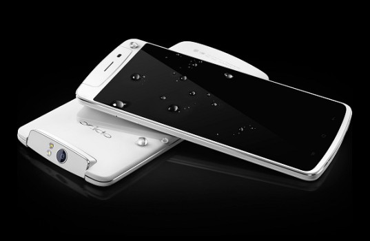 Oppo's N1 smartphone might look like just another phone, but it has a camera trick up its sleeve. (image: Oppo)