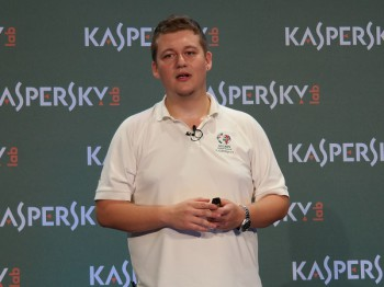 Stefan Tanase, Senior Security Researcher at Kaspersky Lab's Global Research and Analysis Team for Eastern Europe, Middle East and Africa (image: Charlie Fripp)