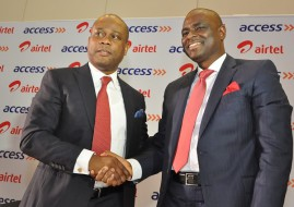GMD, Access Bank, Herbert Wigwe with MD,CEO, Airtel Nigeria Segun Ogunsanya at the event. (Image Source: Airtel).
