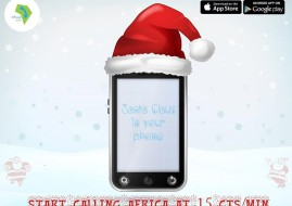 blank cell phone covered with Santa cap vector illustration