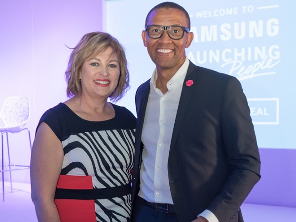 Samsungs_Michelle_Portgieter_with_MC_Andile_Khumalo