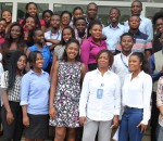 Tigo's Director of Human Resource, Elizabeth Arhin, with interns.