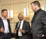 Claude Schuck of Veeam, Patrick Maphopha of NetApp and Gerhard Gibbs of Veeam