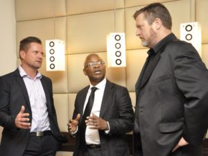 Claude Schuck of Veeam, Patrick Maphopha of NetApp and Gerhard Gibbs of Veeam