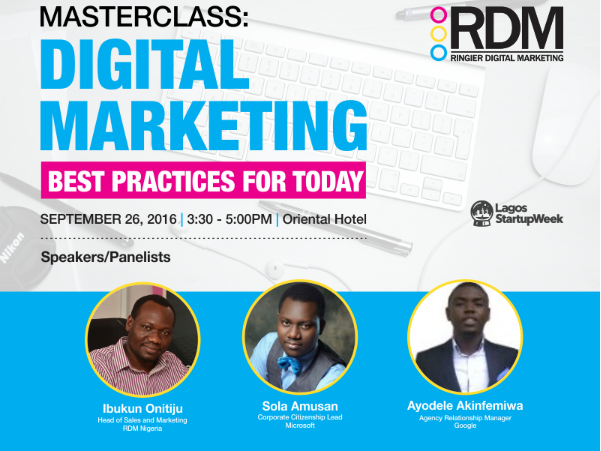 IT News Africa : Lagos Startup Week to Offer Free Digital Marketing Masterclass