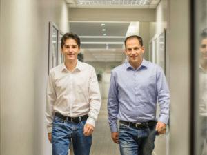 Co-founders of walletdoc Dan Wagner and Leonard Shenker.