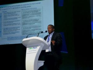 Dr Mohapi SITA CEO addressing delegates at GovTech 2015.