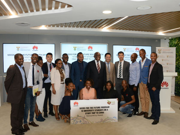 This is the first batch of 1000 South African students to be sent to China for Huawei's Seeds of the Future Program.
