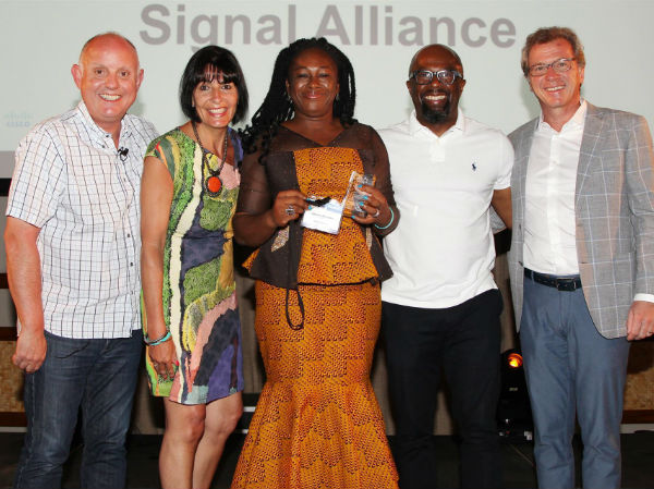 John Donovan, Cisco COO EMEAR; Yasmin Kirton, Cisco Africa Snr Virtual Sales Manager; Adanma Onuegbu, Signal Alliance Nigeria CEO; Tunji Akintokun, Cisco Africa Partner & Commercial Lead, and Milo Schacher, Cisco EMEAR VP Partner Organisation. (image: Moses Braimah)