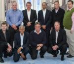 From left standing), Patrick Hastings (Bytes Systems Integration), Dr Willie Oosthuysen (Altron), Wael Aglan (Nokia), Tim Ellis (Altron), and JT Engelbrecht (Altech Radio Holdings). Kneeling (from left) Jan Liebenberg (Nokia), Ismael Hassa (Nokia), Sarel Van Wyk (Bytes Systems Integration), and Shaun Brashaw (Altech Netstar).