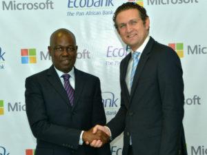 Ade Ayeyemi, CEO Ecobank Group and Amr Kamel, GM Microsoft.