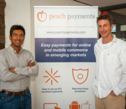 Rahul Jain and Andreas Demleitner, Peach Payments co-founders.