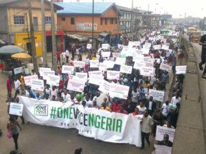 Widespread protests across Nigeria.