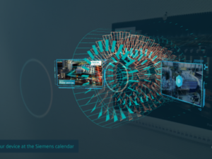 The augmented reality app accompany the wall calendar as a better way to show their customers what it is they do as opposed to telling them.(image: Siemens)
