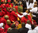Chaotic scenes at the SONA 2017.