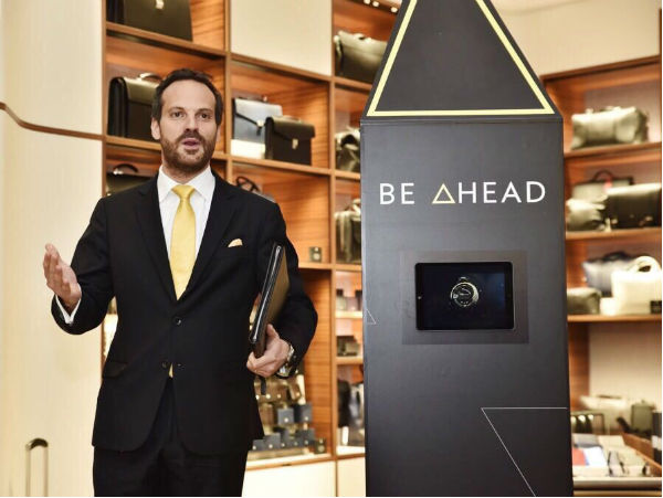 Camilo Daza Tapia, Brand Manager of Montblanc unveils the Montblanc Summit collection.