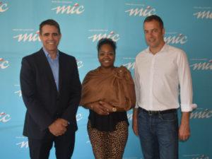 Rudi Barnard (Director Flickswitch International), Violet Verimuje (Manager: Key Accounts), Kees Snijders (Managing Director, Flickswitch).