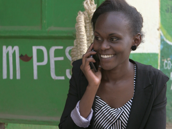 The money is primarily transferred using the M-Pesa mobile phone-based money transfer service.