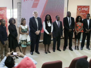 Dignitaries gather at the  Zambia Vodafone JUMP  launch event.