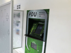 A PDU is an ATM-like innovation using electronic and robotic technology to dispense medication.