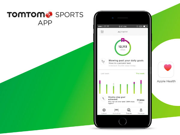 TomTom Sports app now syncs with Google Fit and Apple Health.
