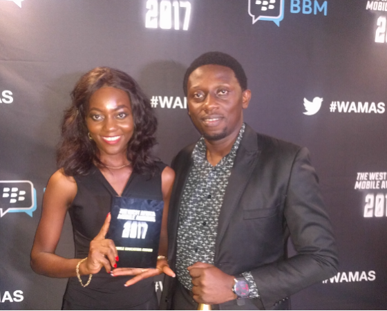 One of the winners receiving their award at the WAMAS.