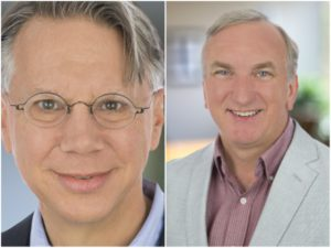 Ted Schadler and Nigel Fenwick, co-authors of the report Disrupt your Business from the Outside In.