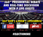 P Live in partnership with Facebook will live-stream the Kenyan Presidential Debate that is scheduled to hold on Monday, 24th of July at 5.30pm.