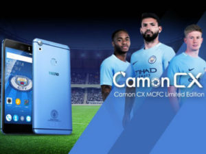Tecno Camon CX Manchester City Limited Edition launch.