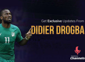 Former Chelsea and Ivory Coast footballer, Didier Drogba.