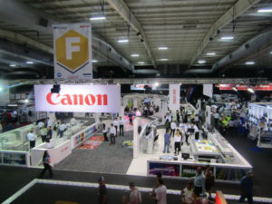 Canon stand at FESPA Africa 2017 at the Gallagher Convention Centre.