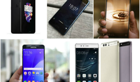 Top 5 mid-range smartphones