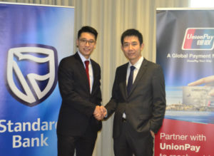 Cashless access to China for Africans through Standard Bank and UnionPay International