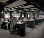 Does the open plan office work? (Image from www.sage.com/za)