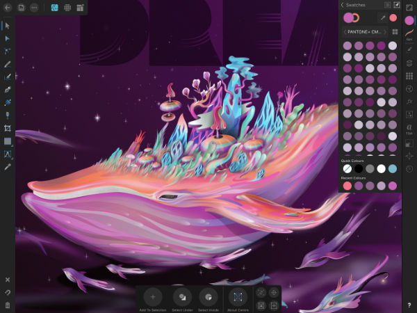 Draw inspiration anywhere with Affinity Designer for iPad