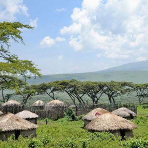 Maasai boma in Ngorongoro Conservation Area, Tanzania