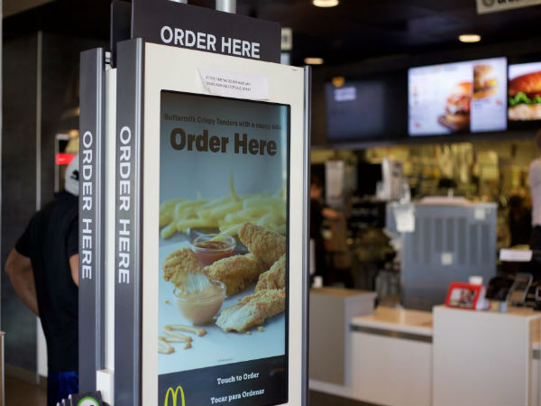 The franchise plans to add kiosks to 1,000 stores every quarter for the next two years.