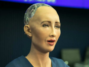 AI robot Sophia visits Vietnam, talks about robotics