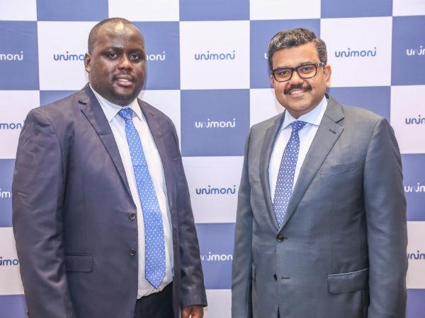 Allen Semboze, Regional Head Africa of Unimoni, and Promoth Manghat, Executive Director of Finablr.