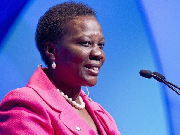 Hon Irene Muloni, the Minister of Energy and Mineral Development