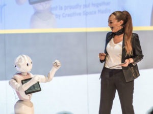 Ursula Chikane and Pepper Humaniod Robot