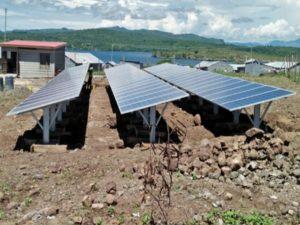 The new 20-kilowatt solar power microgrid provides power to communities on Ringiti Island
