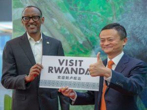 Rwandan President Paul Kagame and Alibaba Group Executive Chairman Jack Ma