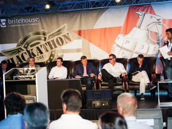 To determine the winner the theme shifted to that of the popular television series Dragon's Den (image: Britehouse)