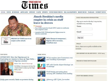 Nigeria's Premium Times news website was hit by a cyber-attack over the weekend (image: File)