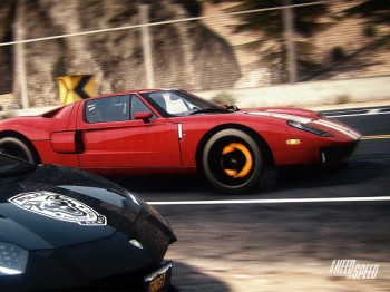A Ford GT goes Head-to-Head with a cop in Rivals (image: EA)
