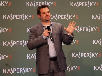 Sergey Novikov, Deputy Director of Kaspersky Lab's Global Research and Analysis team (image: Charlie Fripp)