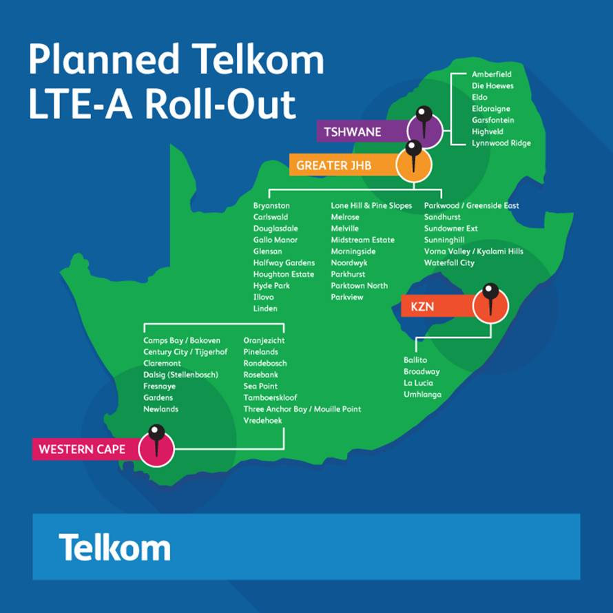 Telkom LTE Advanced details surface for SA |IT News Africa – Up to